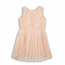 Peachy 4P: Woven Net Layered Lurex Dress (8-13 Years)