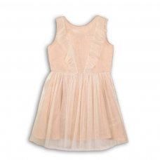 Peachy 4: Woven Net Layered Lurex Dress (3-8 Years)