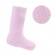 PS02-P: Pink Pelerine Knee-Length Socks (0-24 Months)