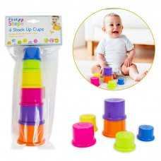PS546: Children's Set of 6 Stack Up Toy Cups