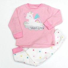 L4123: Girls Unicorn All Over Print Fleece Pyjama (2-6 Years)