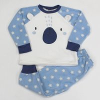 L4125: Boys Bear All Over Print Fleece Pyjama (2-6 Years)