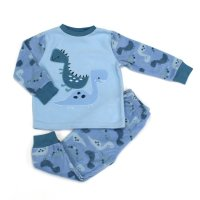 L4126: Boys Dinosaur All Over Print Fleece Pyjama (2-6 Years)