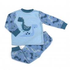 L4126: Boys Dinosaur All Over Print Fleece Pyjama (2-6 Years)