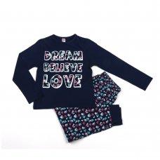 """Y6768: Older Girls """"Dream, Believe, Love"""" Pyjama (6-13 Years)"""