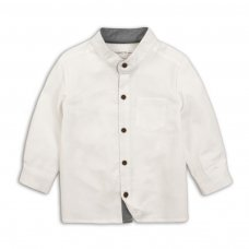 Party 4: Sky Striped Textured Grandad Shirt (9 Months-3 Years)