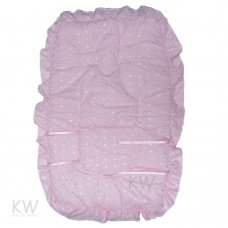 Broderie Anglaise Buggy Liner: Pink
