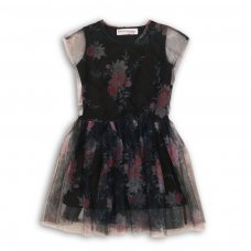 Petal 1: Net Layered Dress With Embroidered Net Petals (3-8 Years)
