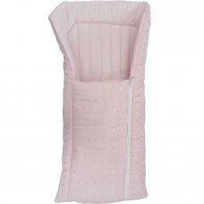 Standard Broderie Anglaise Baby Nest: Pink