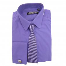 3 Pce Purple St Chiman Shirt (2-10 Years)
