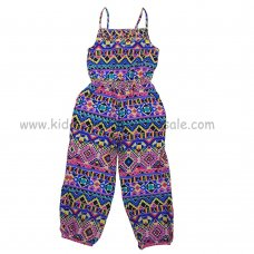 Q16988: Girls Aztec Style Printed Jumpsuit (6-12 Years)