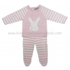 Q17059: Baby Girls Bunny Knitted 2 Piece Set (0-9 Months)