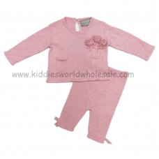 Q17060: Baby Girls Knitted 2 Piece Set (0-9 Months)
