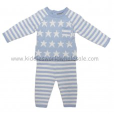 Q17061: Baby Boys Stars & Stripes Knitted 2 Piece Set (0-9 Months)