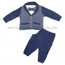 Q17118: Baby Boys 4 Piece Knitted Outfit (0-18 Months)