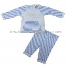 Q17120: Baby Boys Quilted Top & Pant Set (0-9 Months)