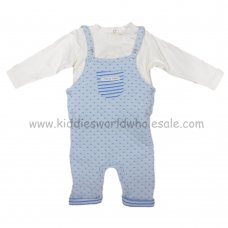 Q17121: Baby Boys Quilted Dungaree Set (0-9 Months)