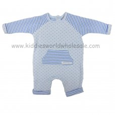 Q17122: Baby Boys Quilted Romper (0-9 Months)