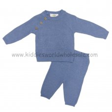 Q17130: Baby Boys Knitted 2 Piece Set (0-12 Months)
