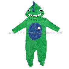 Q17568: Baby 3D Dinosaur Fleece Onesie/All In one (0-12 Months)