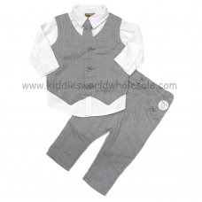 Q17594: Baby Boys 4 Piece Waistcoat Outfit (3-24 Months)