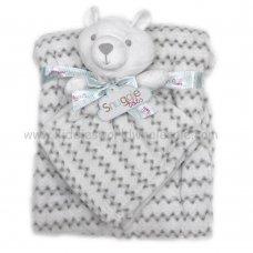 Q17642: Baby Unisex Bear Comforter & Blanket