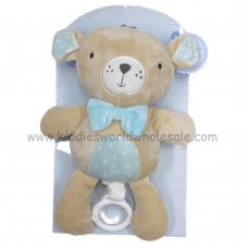 Q17722: Boys 26cm Bear With Musical Sound (12+ Months)