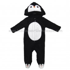 Q17785: Baby 3D Penguin Fleece Onesie/All In one (0-12 Months)