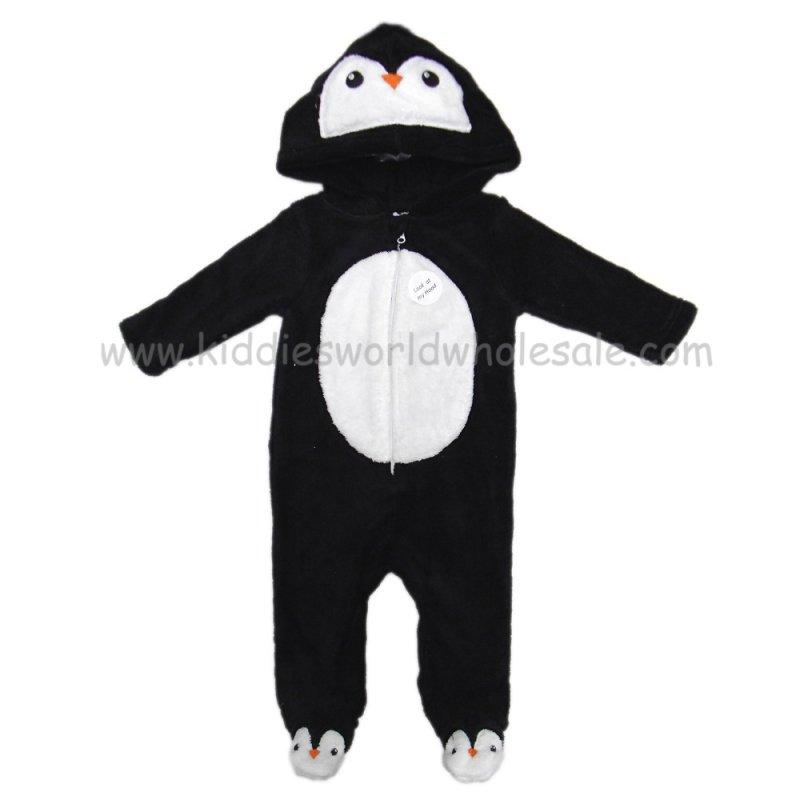 Q17785: Baby 3D Penguin Fleece Onesie/All In one (0-12 Months)