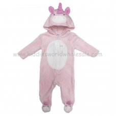 Q17786: Baby 3D Unicorn Fleece Onesie/All In one (0-12 Months)