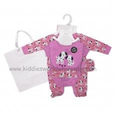 R18484: Baby Girls Dalmatian 6 Piece Net Bag Gift Set (NB-6 Months)