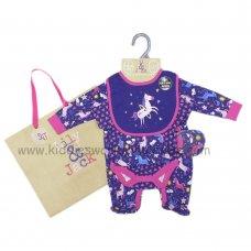 R18489: Baby Girls Unicorn 6 Piece Net Bag Gift Set (NB-6 Months)