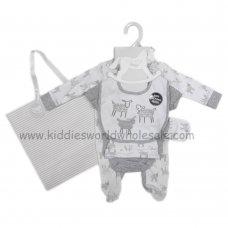 R18492: Baby Unisex Sheep 6 Piece Net Bag Gift Set (NB-6 Months)