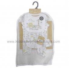 R18496: Baby Unisex Animals 6 Piece Net Bag Gift Set (NB-6 Months)