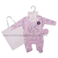 R18497: Baby Girls Unicorn Princess 6 Piece Net Bag Gift Set (NB-6 Months)