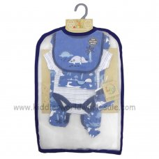 R18601: Baby Boys Dinosaur 6 Piece Net Bag Gift Set (NB-6 Months)