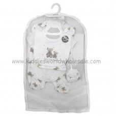 R18605: Baby Unisex Bear 6 Piece Net Bag Gift Set (NB-6 Months)