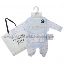 R18609: Baby Boys Toy Box 6 Piece Net Bag Gift Set (NB-6 Months)