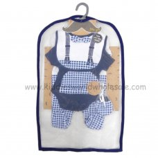 R18611: Baby Boys Gingham Bow Tie  6 Piece Net Bag Gift Set (NB-6 Months)