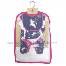 R18721: Baby Girls Unicorn 6 Piece Net Bag Gift Set (NB-6 Months)