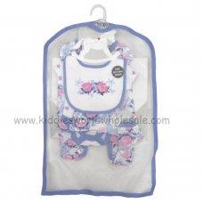 R18725: Baby Girls Floral 6 Piece Net Bag Gift Set (NB-6 Months)