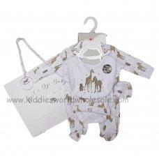 R18735: Baby Unisex Animals 6 Piece Net Bag Gift Set (NB-6 Months)