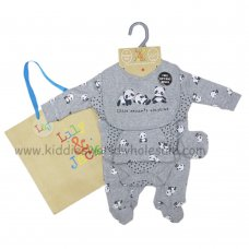 R18736: Baby Little Panda 6 Piece Net Bag Gift Set (NB-6 Months)