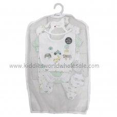 R18877: Baby Unisex Farm 6 Piece Net Bag Gift Set (NB-6 Months)