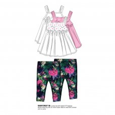 Rainforest 8: Woven Top / Aop Legging Set (1-3 Years)