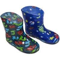 RB23: Boys Aliens/Monsters Wellington Boots (15-24 Months)