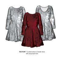 Redrum 7: Metallic Neoprene Dress (3-8 Years)