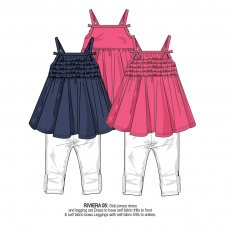 Riviera 5: Slub Jersey Dress & Legging Set (1-3 Years)