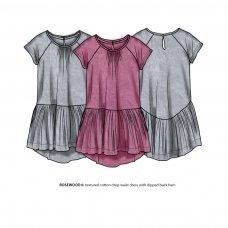 Rosewood 6: Textured Cotton Drop Waist Dress (3-8 Years)
