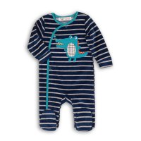 Recess 9: Striped Velour Sleepsuit (0-12 Months)